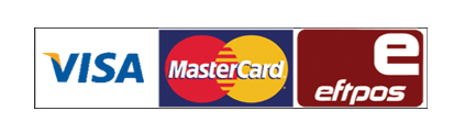 We accpt Eftpos, Visa and Mastercard